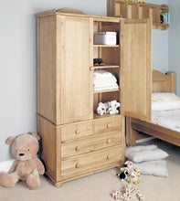 Load image into Gallery viewer, Daisy Oak Childrens Double Wardrobe