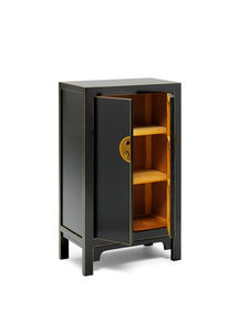 dynasty black and gilt medium cabinet