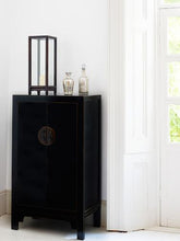Load image into Gallery viewer, dynasty black and gilt medium cabinet