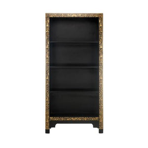 dynasty oriental decorated black bookcase