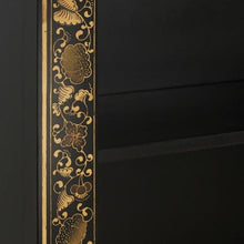 Load image into Gallery viewer, dynasty oriental decorated black bookcase