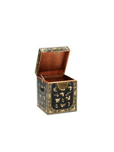 dynasty oriental decorated black trunk
