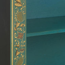 Load image into Gallery viewer, dynasty oriental decorated blue bookcase