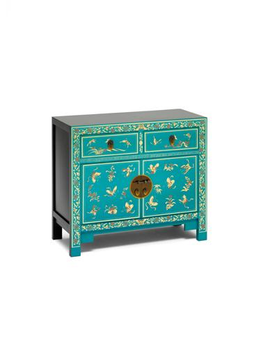 Dynasty Oriental Decorated Blue Sideboard