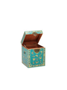 dynasty oriental decorated blue trunk