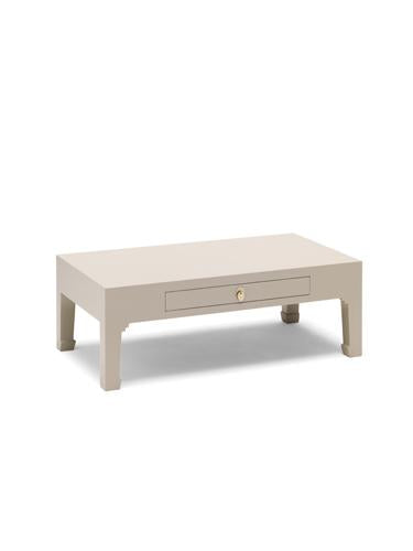 Dynasty Oyster Grey Coffee Table with Drawer