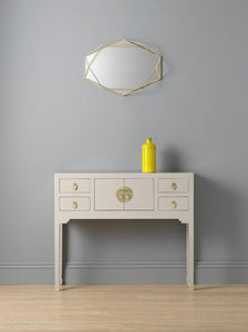 dynasty oyster grey small console table