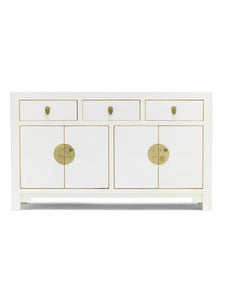 dynasty white large sideboard