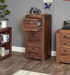 Jupiter Walnut 3 Drawer Filing Cabinet
