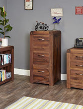 Load image into Gallery viewer, jupiter walnut 3 drawer filing cabinet