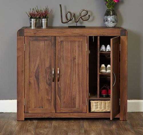 Jupiter Walnut Extra Large Shoe Cupboard