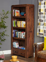 Load image into Gallery viewer, jupiter walnut large drawer bookcase