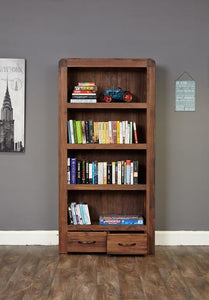 jupiter walnut large drawer bookcase