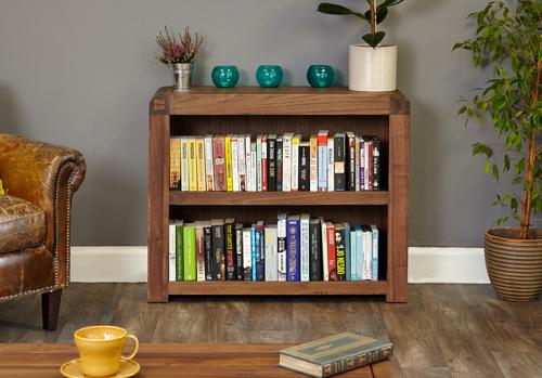 Jupiter Walnut Low Bookcase