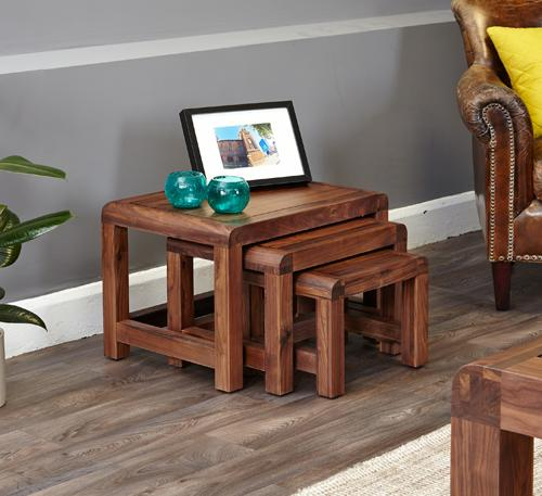 Jupiter Walnut Nest of 3 Tables