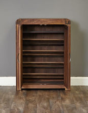 Load image into Gallery viewer, jupiter walnut shoe cupboard