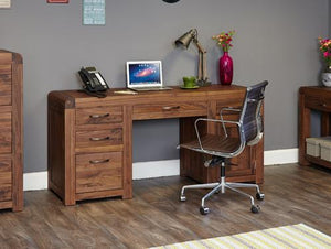 Jupiter Walnut Twin Pedestal Computer Desk