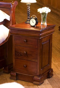 majestic mahogany 4 drawer lit bateau lamp table