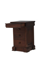 Load image into Gallery viewer, majestic mahogany 4 drawer lit bateau lamp table