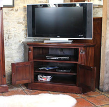 Load image into Gallery viewer, majestic mahogany corner television cabinet