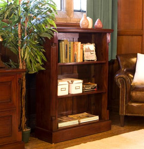 majestic mahogany low open bookcase
