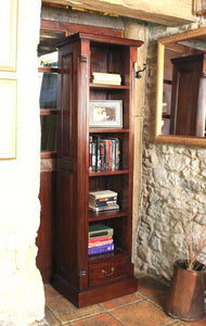 Majestic Mahogany Narrow Alcove Bookcase