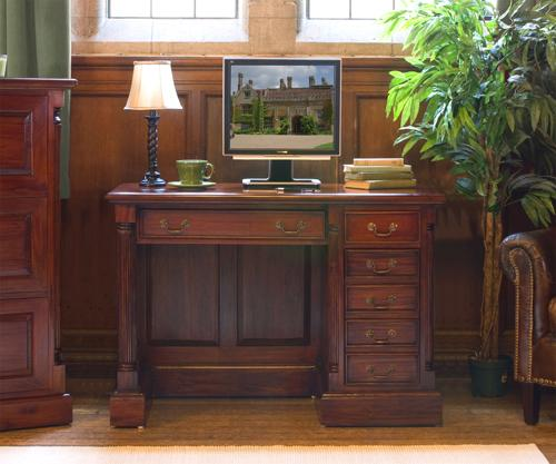 Majestic Mahogany Single Pedestal Computer Desk