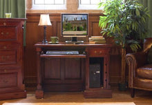 Load image into Gallery viewer, majestic mahogany single pedestal computer desk