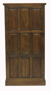 majestic mahogany tall open bookcase
