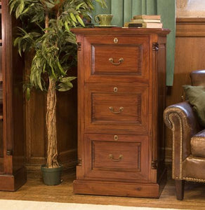 Majestic Mahogany Three Drawer Filing Cabinet