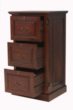 Load image into Gallery viewer, majestic mahogany three drawer filing cabinet