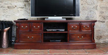Load image into Gallery viewer, majestic mahogany widescreen television cabinet