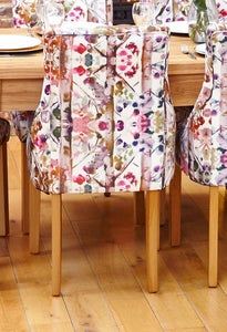 oak accent upholstered dining chair bouquet pack of two