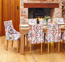 Load image into Gallery viewer, oak accent upholstered dining chair bouquet pack of two