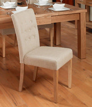 Load image into Gallery viewer, oak flare back upholstered dining chair coconut pack of two