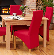 Load image into Gallery viewer, Oak Full Back Upholstered Dining Chair - Red (Pack of Two)