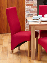 Load image into Gallery viewer, oak full back upholstered dining chair red pack of two