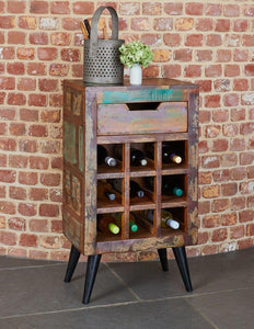 ocean wine rack lamp table