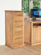 Load image into Gallery viewer, Robin Oak 3 Drawer Filing Cabinet
