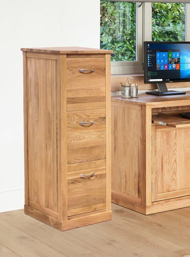 Robin Oak 3 Drawer Filing Cabinet