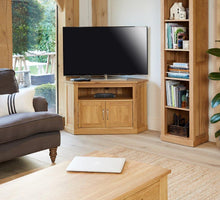 Load image into Gallery viewer, Robin Oak Corner Television Cabinet