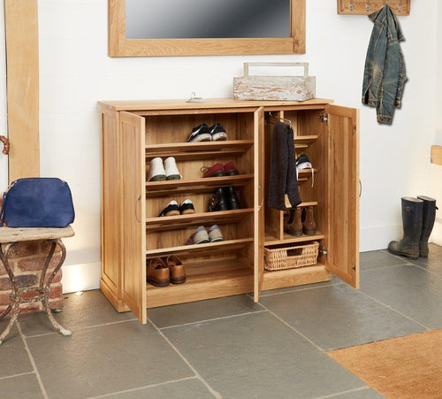 Robin Oak Extra Large Shoe Cupboard