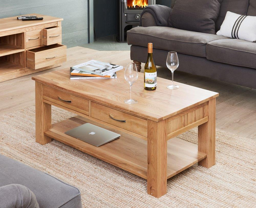 Robin Oak Four Drawer Coffee Table