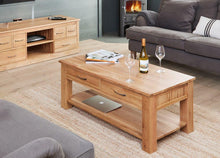 Load image into Gallery viewer, robin oak four drawer coffee table