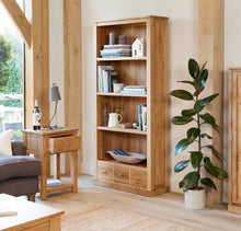 Load image into Gallery viewer, robin oak large 3 drawer bookcase