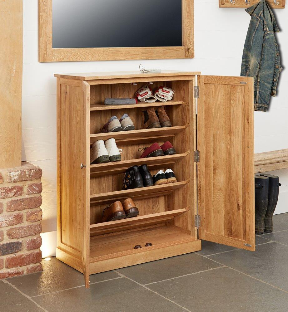 Robin Oak Large Shoe Cupboard