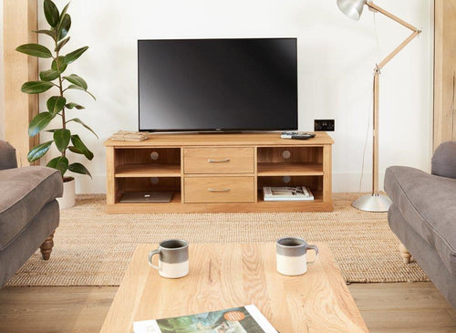 Robin Oak Mounted Widescreen Television Cabinet