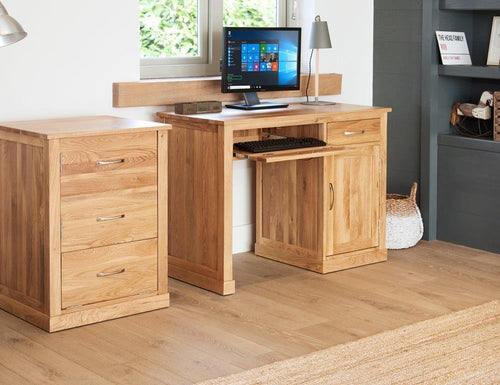 Robin Oak Single Pedestal Computer Desk