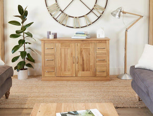 Robin Oak Six Drawer Sideboard