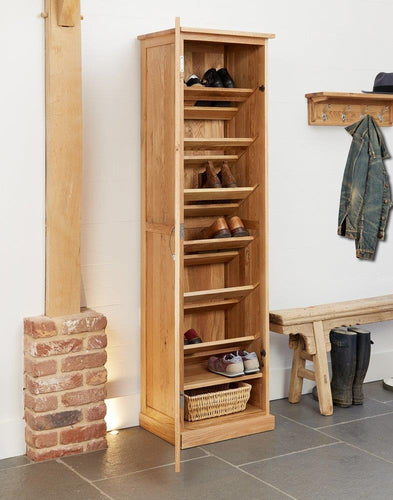 Robin Oak Tall Shoe Cupboard